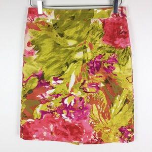 J. Crew Impressionist abstract pencil skirt, 4